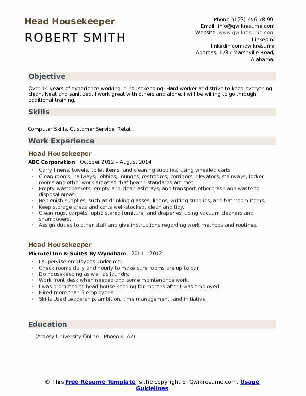 head housekeeper resume samples qwikresume good with computers on pdf groovy grails rmt Resume Good With Computers On Resume