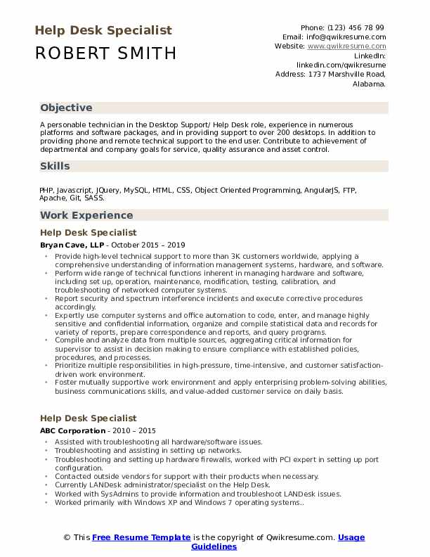 help desk specialist resume samples qwikresume end user support pdf free writing sites Resume End User Support Resume