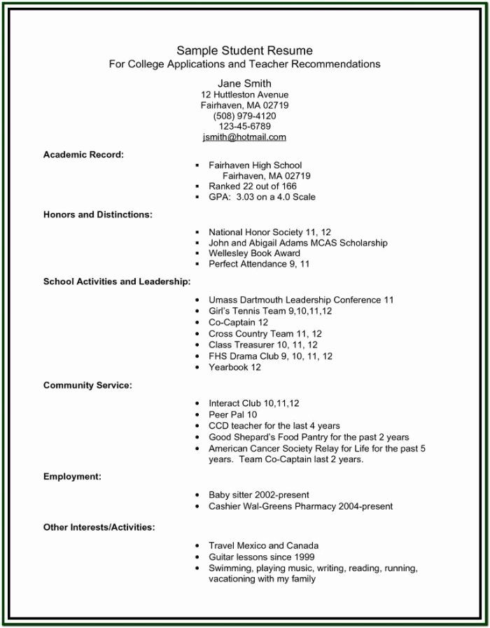 high school resume builder awesome for college students student template military job Resume High School Resume Builder For College