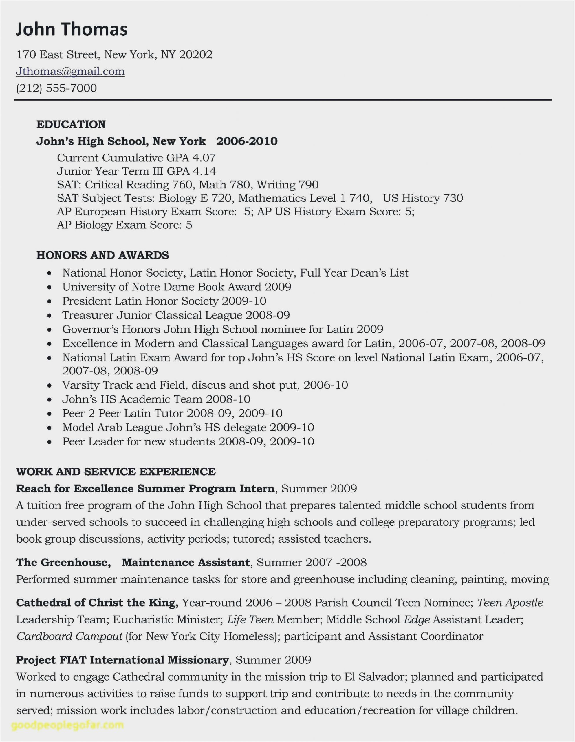 high school resume template for college admissions sample coordinator scaled caretaker Resume Sample High School Resume For College
