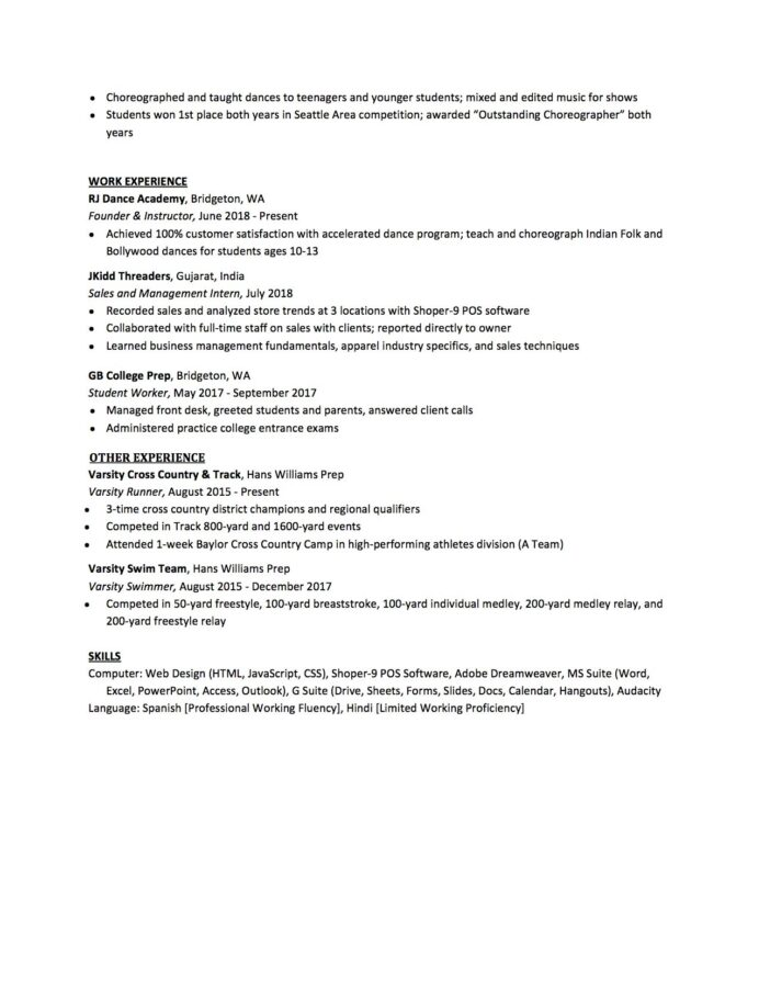 high school resume to write the best one templates included sample for college template Resume Sample High School Resume For College