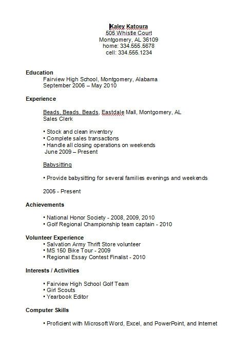 high school student resume example template writer chicago url means inventory clerk Resume High School Resume Template