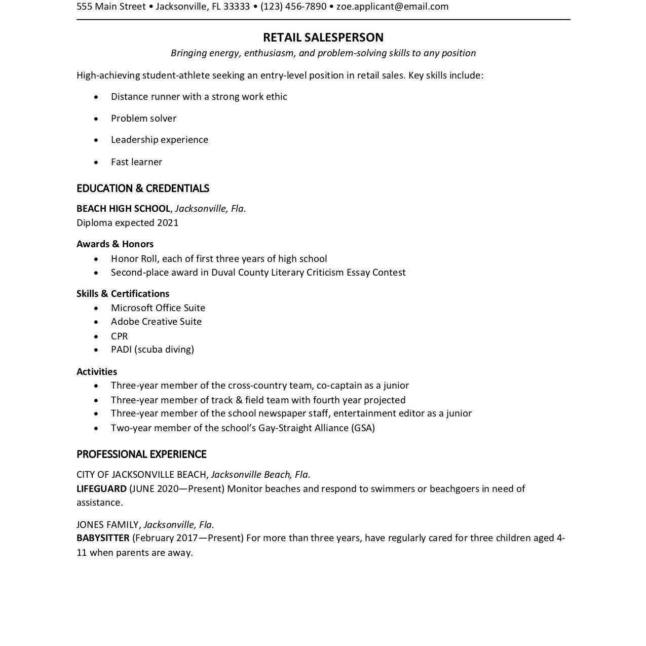 high school student resume template extracurricular format uci peer mentor with one Resume Extracurricular Resume Format