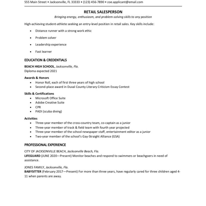 high school student resume template sample middle safety officer for freshers strong Resume Sample Middle School Resume