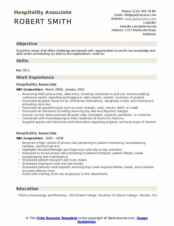 hospitality associate resume samples qwikresume objective pdf food service worker Resume Hospitality Resume Objective
