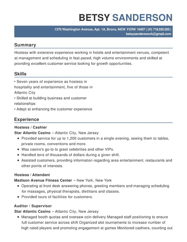 hotel hospitality functional resume samples examples format templates help customer Resume Customer Service Hospitality Resume