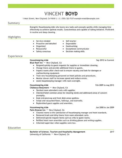 housekeeping resume sample best examples samples for cleaning position should you put Resume Resume Samples For Cleaning Position