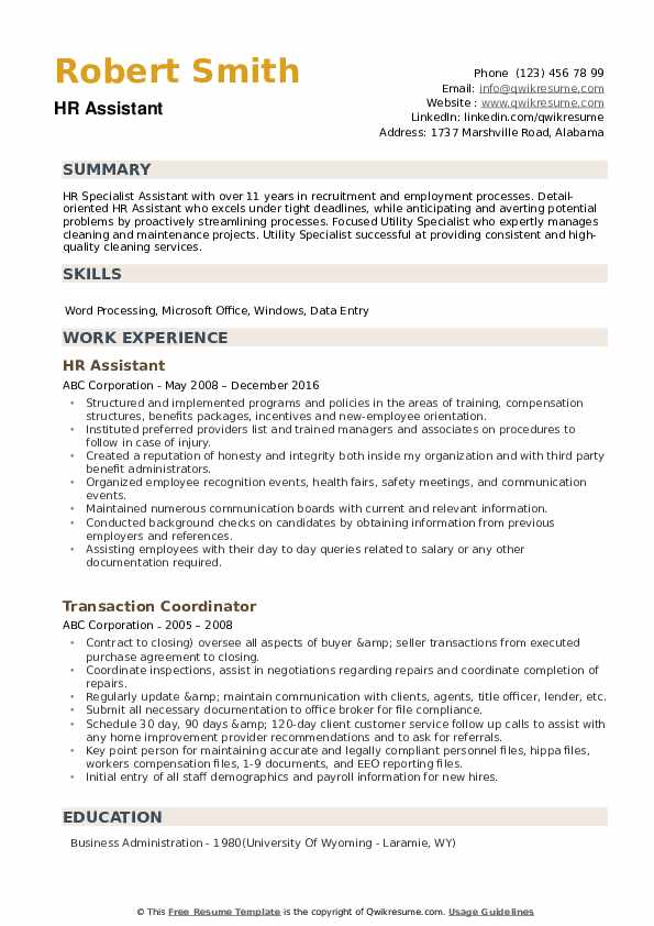 hr assistant resume samples qwikresume human resources template pdf seminars attended Resume Human Resources Assistant Resume Template