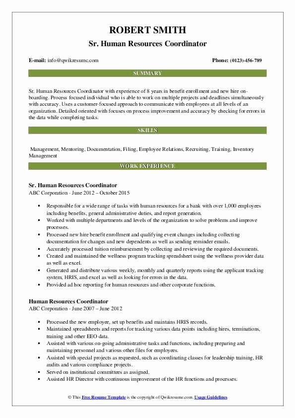 hr coordinator resume sample elegant human resources samples elfaro recruiting of good Resume Recruiting Coordinator Resume