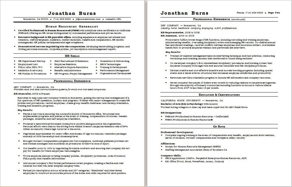 hr generalist resume sample monster human services examples software tester summary entry Resume Human Services Resume Examples