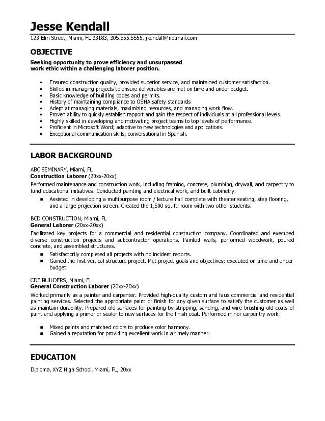 http irationsresume samples construction images microsoft resume objective statement Resume Good Objective For Resume For First Job