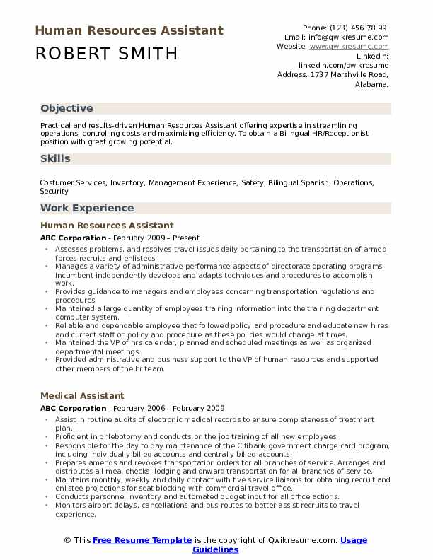 human resources assistant resume samples qwikresume template pdf business eazl financial Resume Human Resources Assistant Resume Template