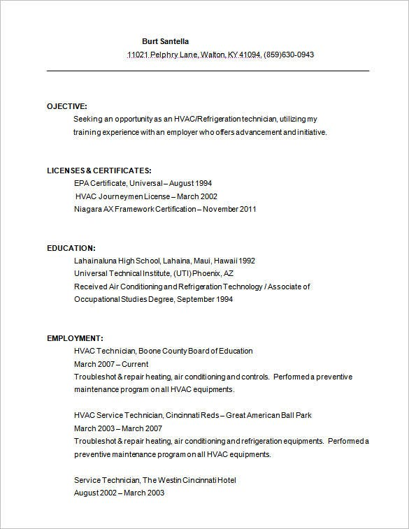 resume hvac service technician job description sports template housekeeping duties and Resume Hvac Job Description Resume