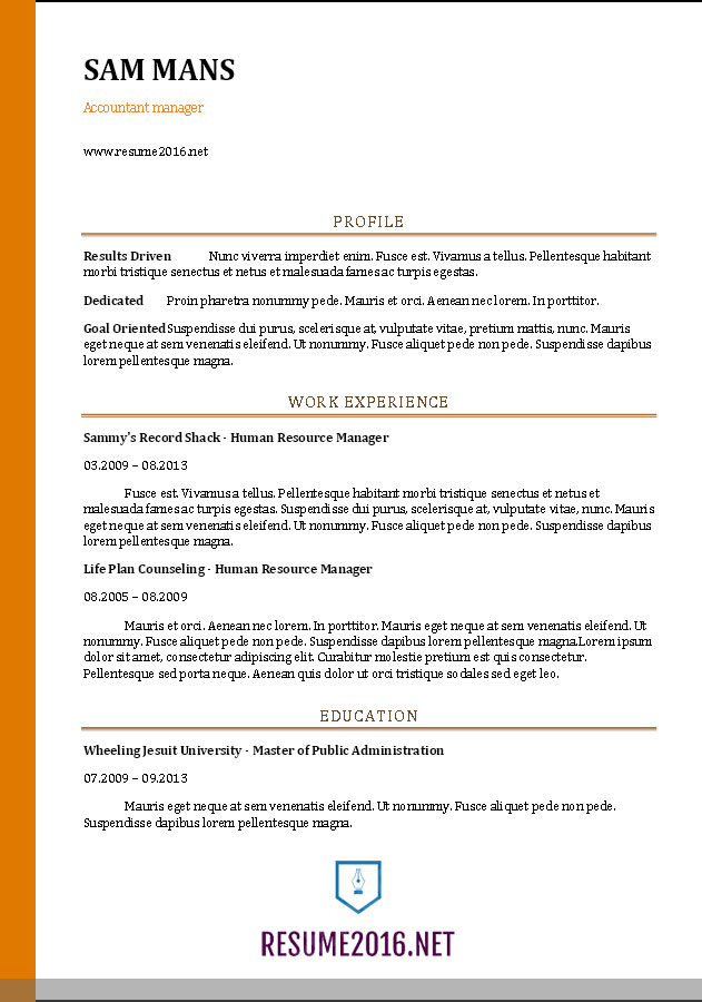 images accountant resume sample best examples accounting format for mca students new grad Resume Accounting Resume Examples 2016