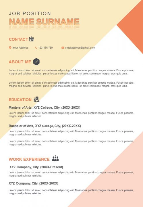 impressive resume sample design template to introduce yourself powerpoint slides diagrams Resume About Yourself For Resume