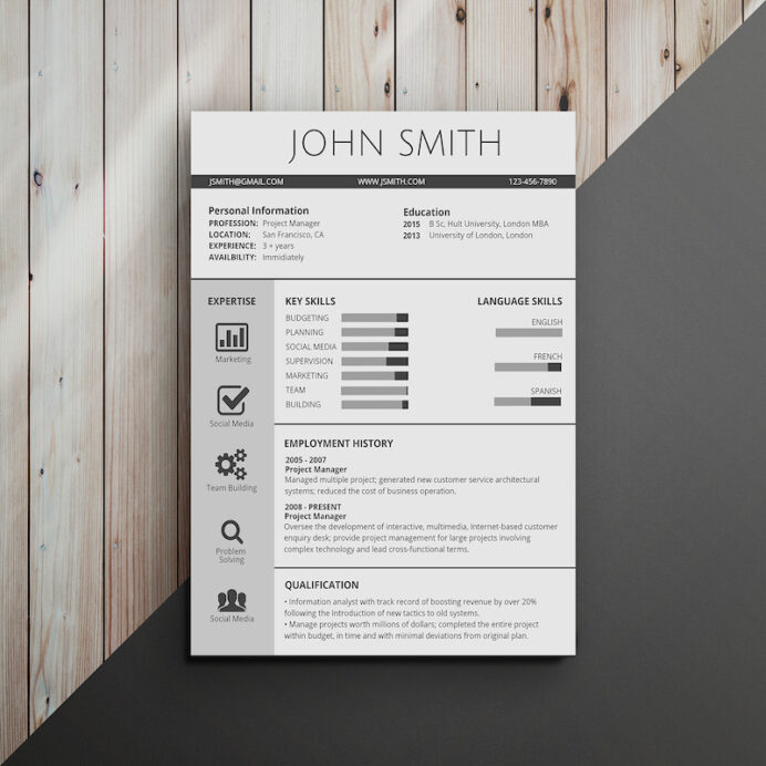 infographic resume template venngage skill headings for classic professional summary Resume Skill Headings For Resume