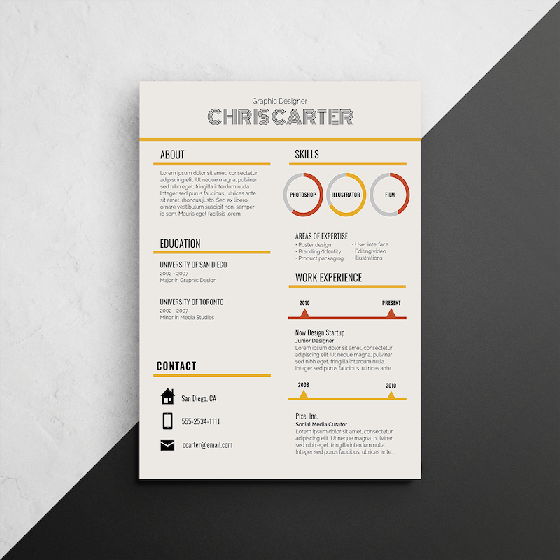 infographic resume template venngage skill headings for retro skills of banker office Resume Skill Headings For Resume