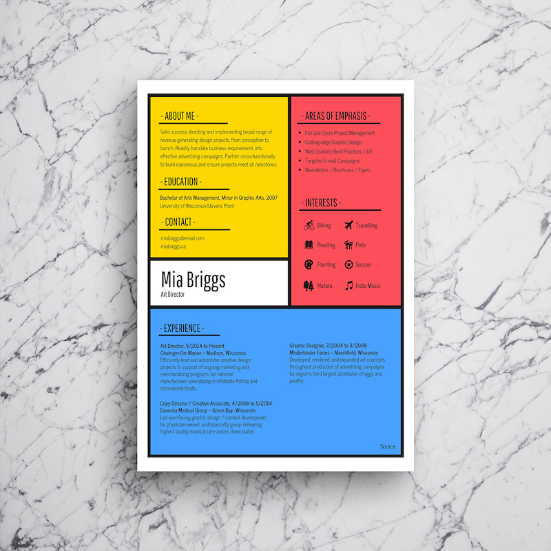 infographic resume template venngage typography artist free builder for internships Resume Typography Resume Template