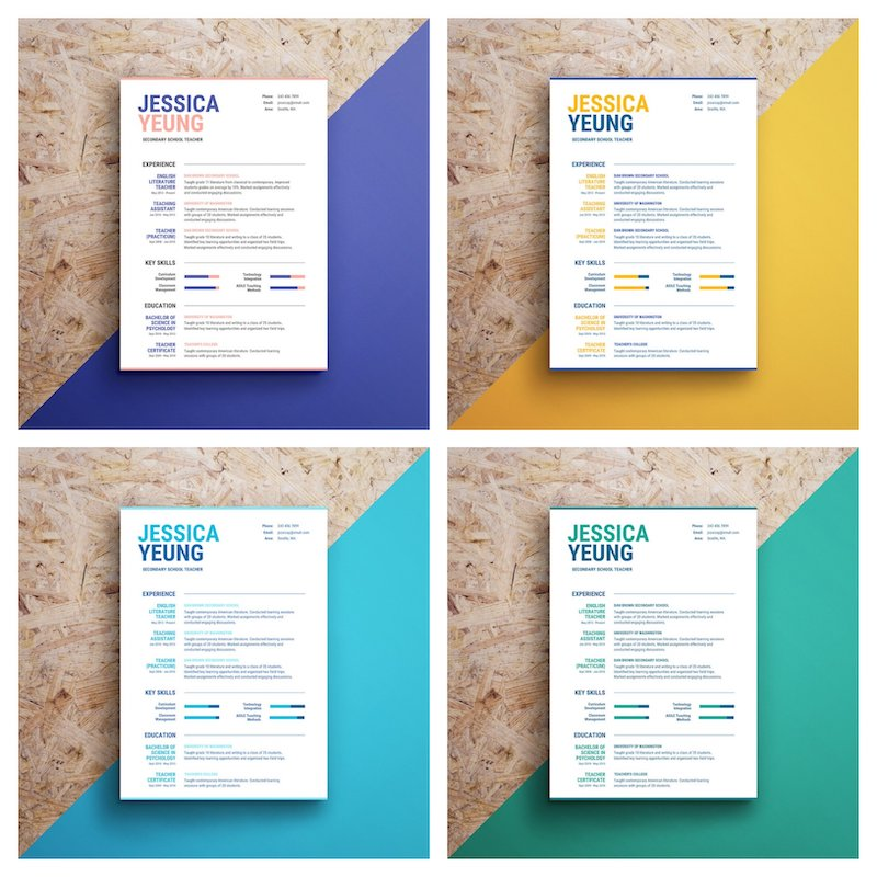 infographic resume template venngage typography colorful legal secretary format free Resume Typography Resume Template