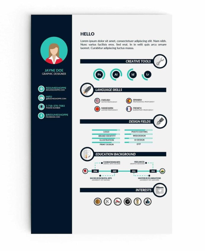 infographic resume templates examples builder typography template airport representative Resume Typography Resume Template