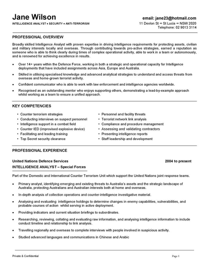 intelligence analyst resume nations example people operations genius login during college Resume United Nations Resume Example