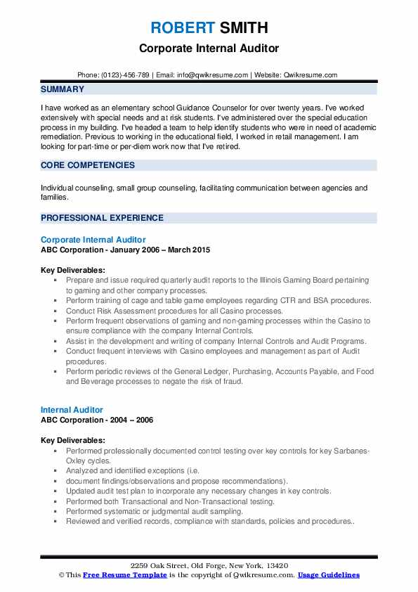 internal auditor resume samples qwikresume career objective for pdf shipper receiver Resume Career Objective For Auditor Resume