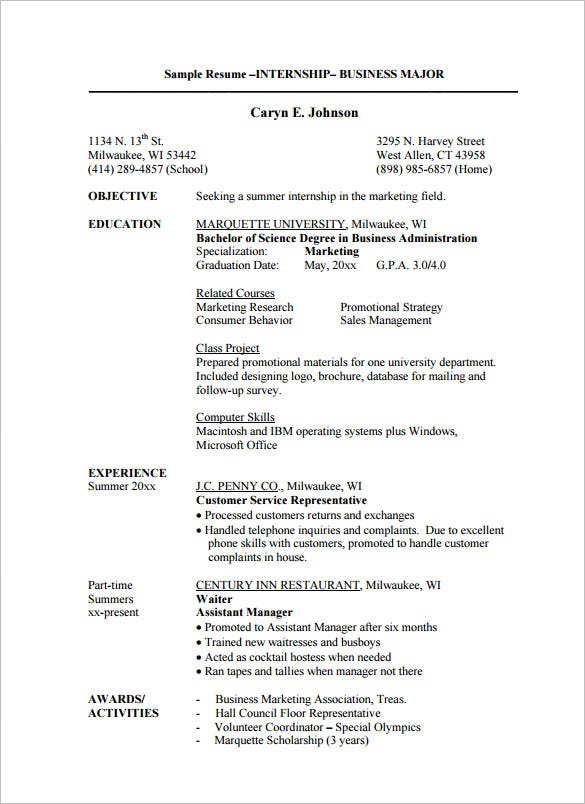 internship resume templates pdf free premium college sample template billing manager Resume College Internship Resume