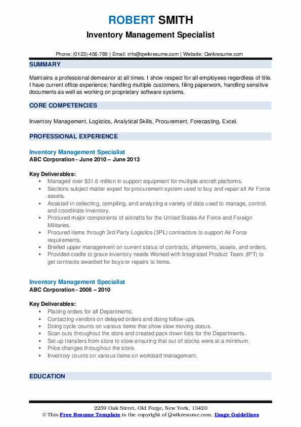 inventory management specialist resume samples qwikresume pdf open minded verbs for Resume Inventory Management Specialist Resume
