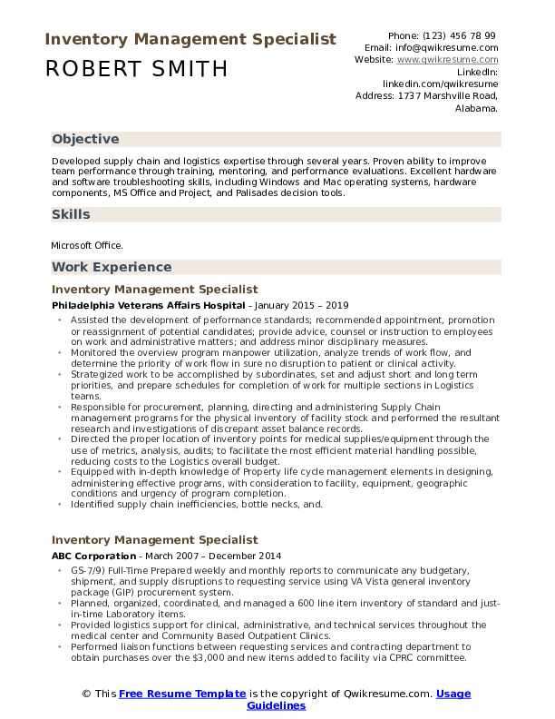 inventory management specialist resume samples qwikresume pdf order of the coif objective Resume Inventory Management Specialist Resume