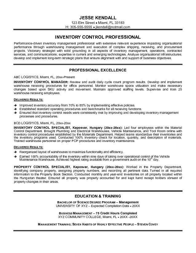 inventory resume sample control supervisor unforgettable associate examples to stand out Resume Inventory Management Specialist Resume