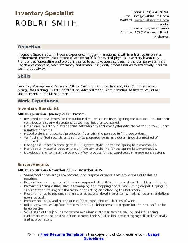 inventory specialist resume samples qwikresume pdf for masters degree sample ucsd Resume Inventory Specialist Resume