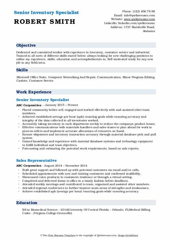 inventory specialist resume samples qwikresume pdf free healthcare based interview Resume Inventory Specialist Resume