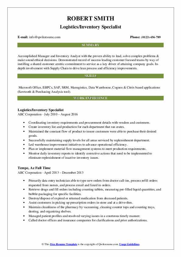 inventory specialist resume samples qwikresume pdf making your ats friendly employment Resume Inventory Specialist Resume