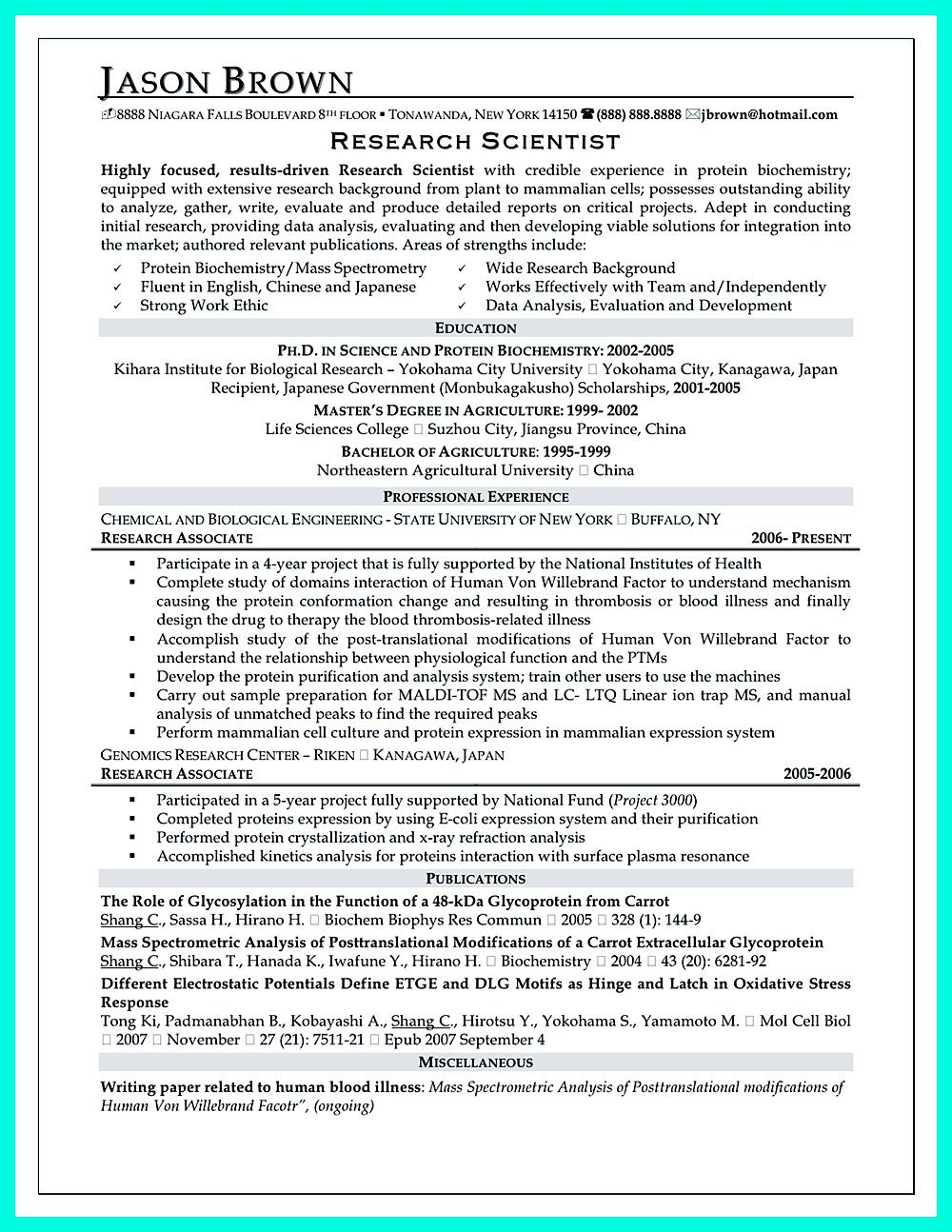 is important in making clinical research associate resume cover letter examples for Resume Clinical Research Resume Format For Freshers