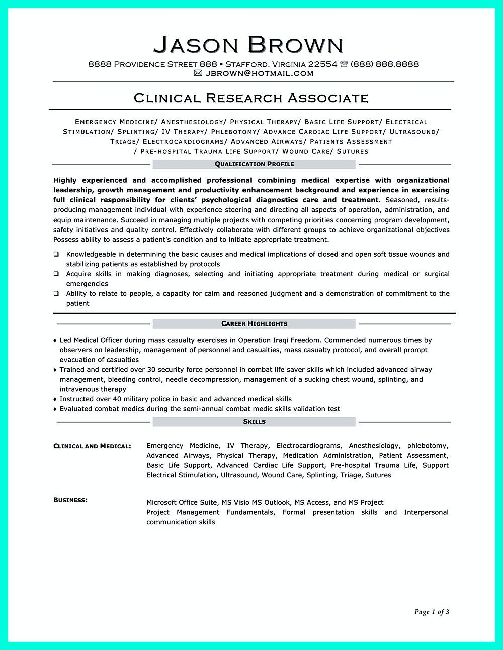 is important in making clinical research associate resume objective good examples format Resume Clinical Research Resume Format For Freshers