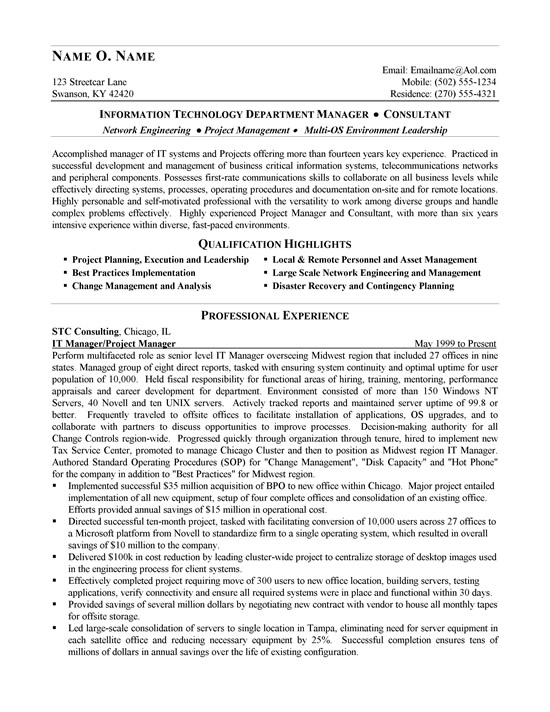 it consultant resume example management consulting examples ex network manager1a creative Resume Management Consulting Resume Examples