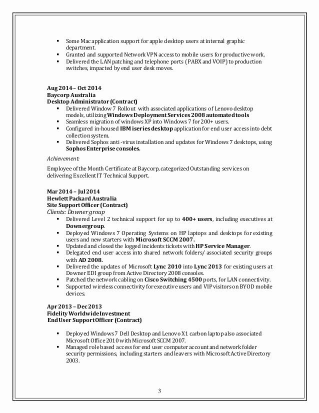 it desktop support resume fresh updated supportive end user free print out elementor Resume End User Support Resume