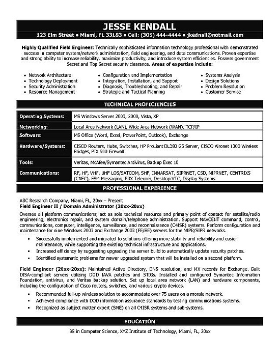 it engineering resume example firewall experience branding statement medical assistant Resume Firewall Experience Resume
