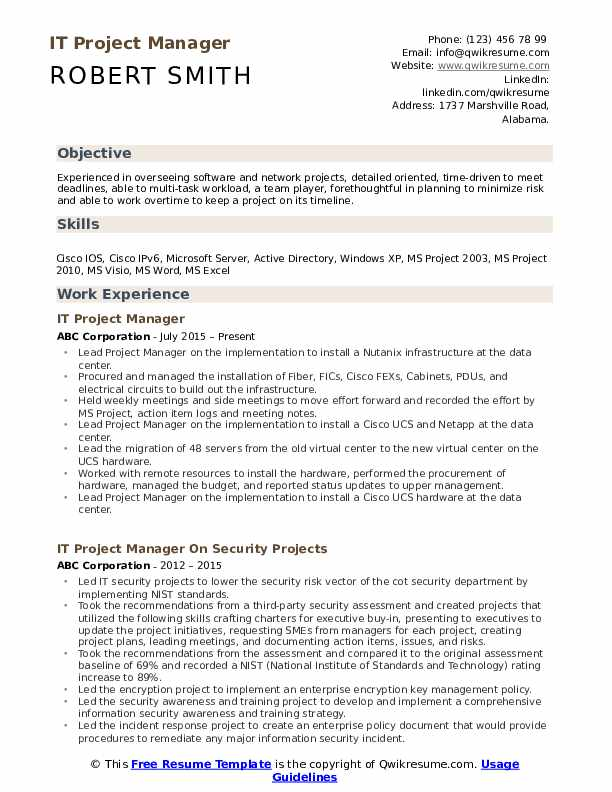 it project manager resume samples qwikresume examples free pdf manufacturing civil fau Resume Project Manager Resume Examples Free