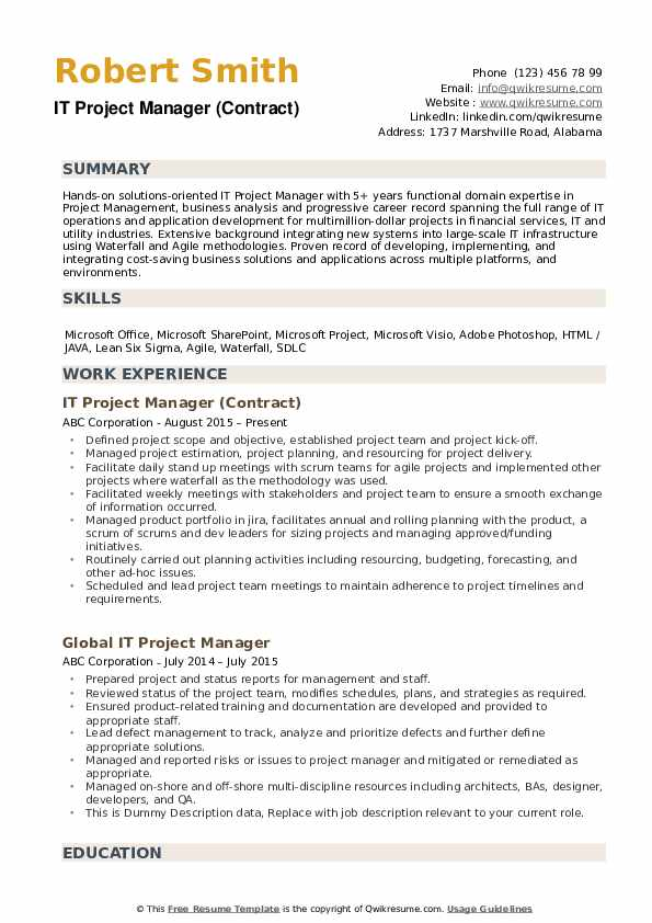 it project manager resume samples qwikresume military management pdf professional social Resume Military Project Management Resume