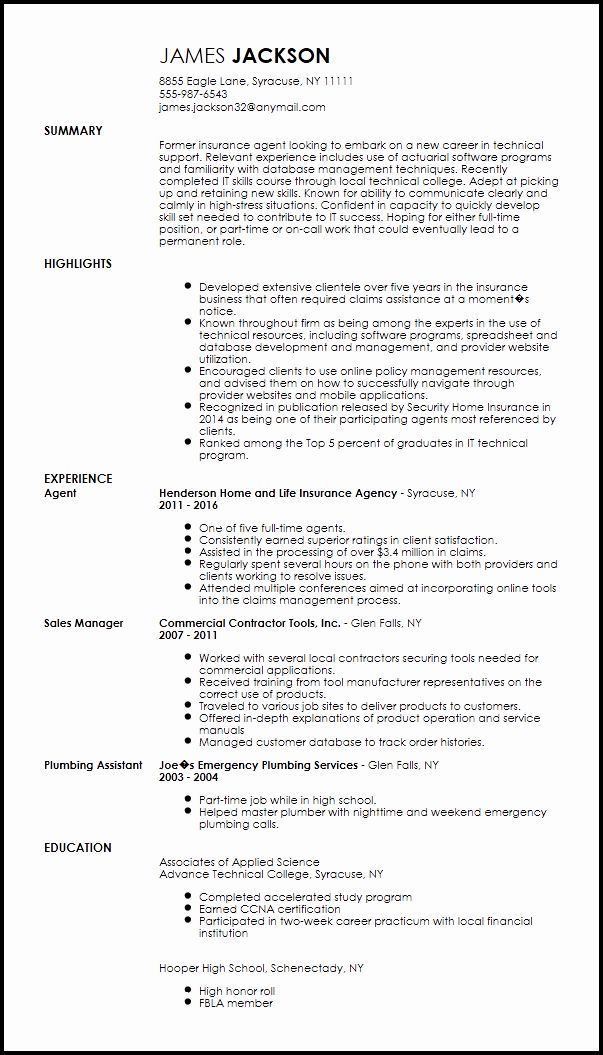 it support technician resume beautiful free entry level technical specialist job samples Resume Technical Customer Service Resume