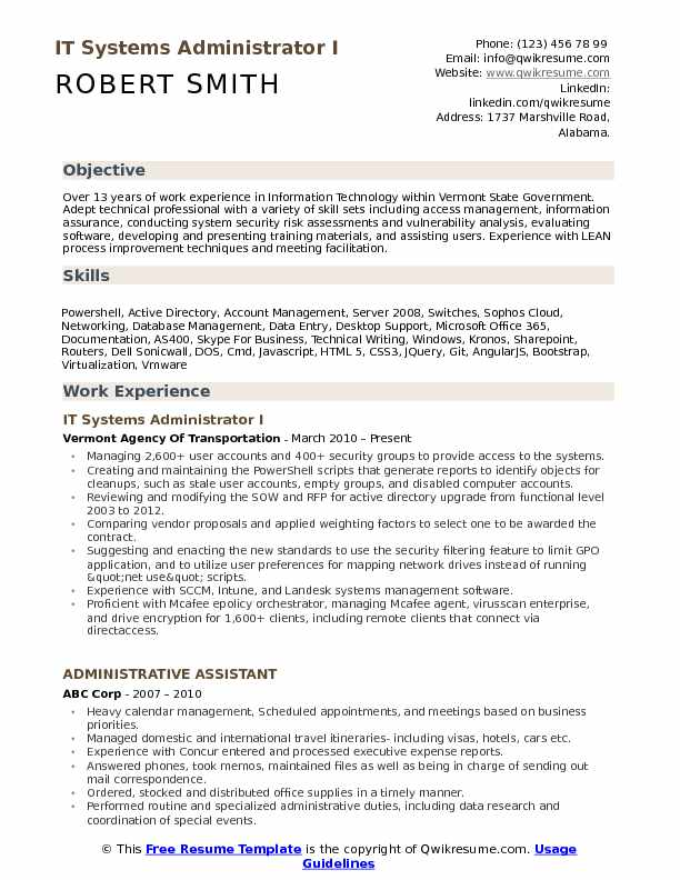 it systems administrator resume samples qwikresume system admin format pdf accountant Resume System Admin Resume Format