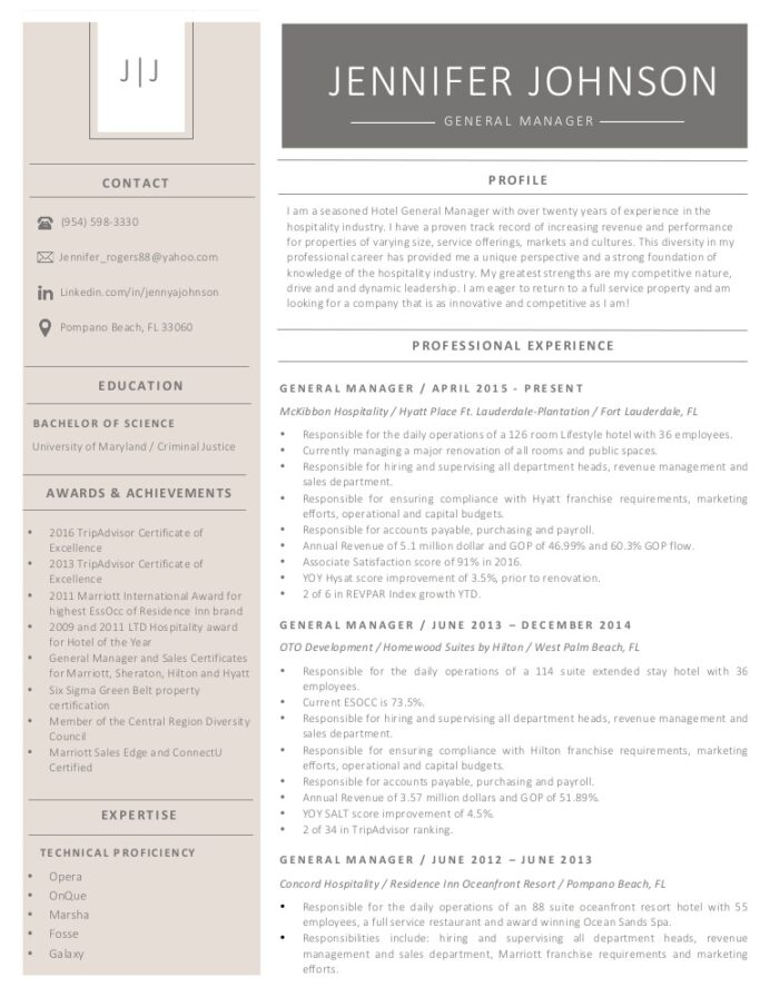 jennifer resume hotel general manager marriott thumbnail ats template skillsusa without Resume Hotel General Manager Resume Marriott