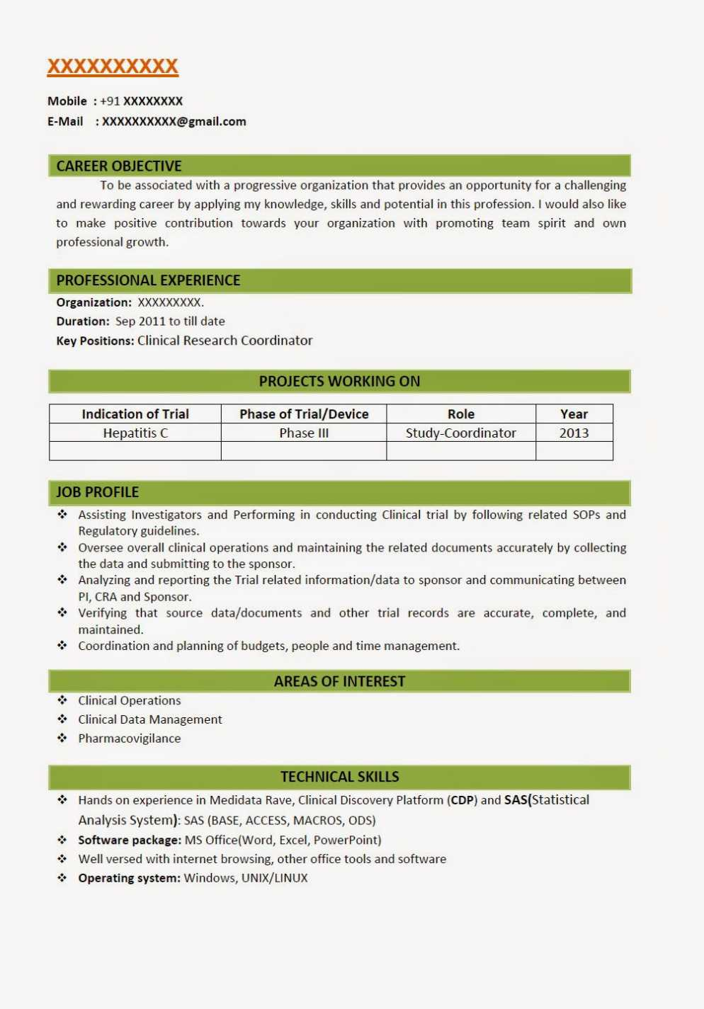 job application resume microbiology format for freshers clinical research uva template Resume Clinical Research Resume Format For Freshers