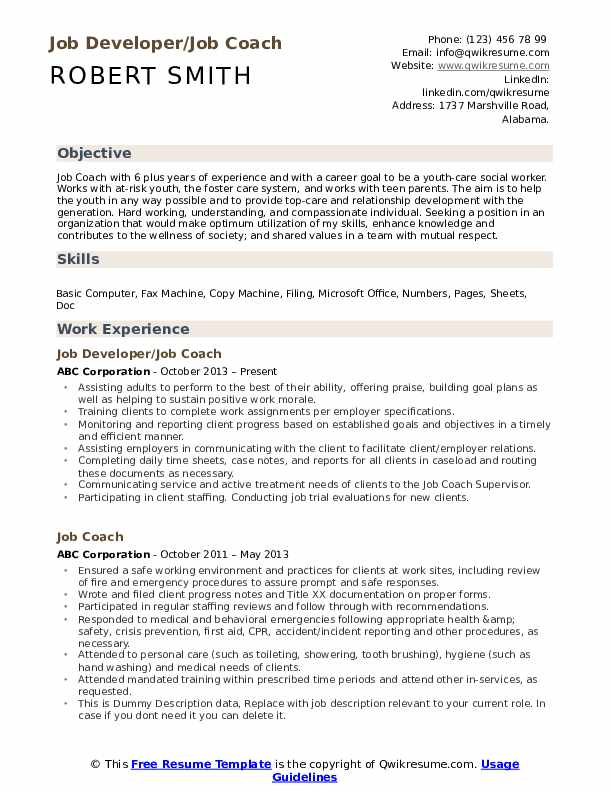 job coach resume samples qwikresume objective for coaching pdf sample librarian fast and Resume Objective For Coaching Resume