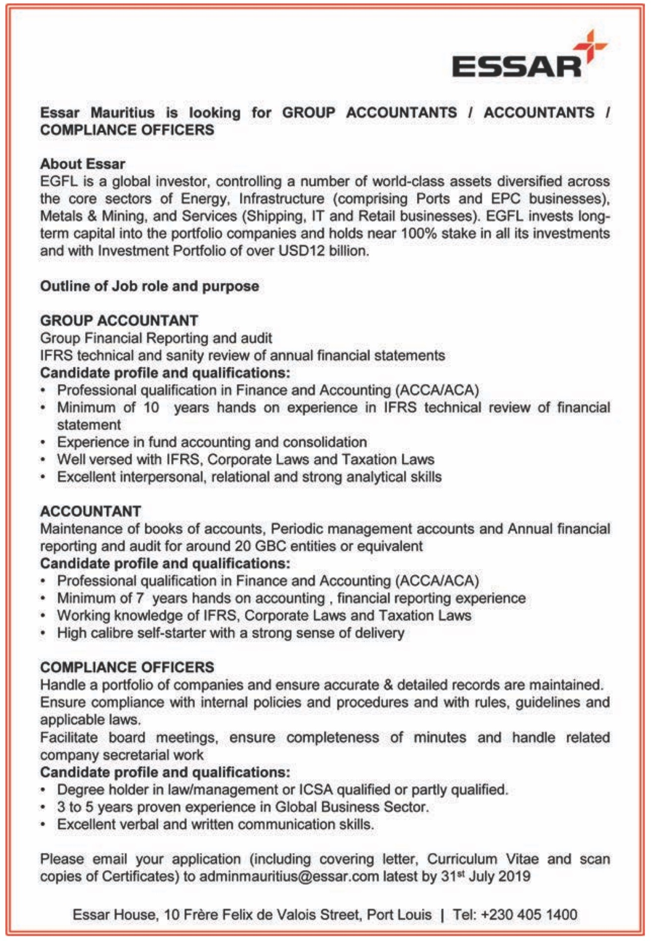 job vacancies in from to july essar career opportunities post resume image template for Resume Essar Career Opportunities Post Resume