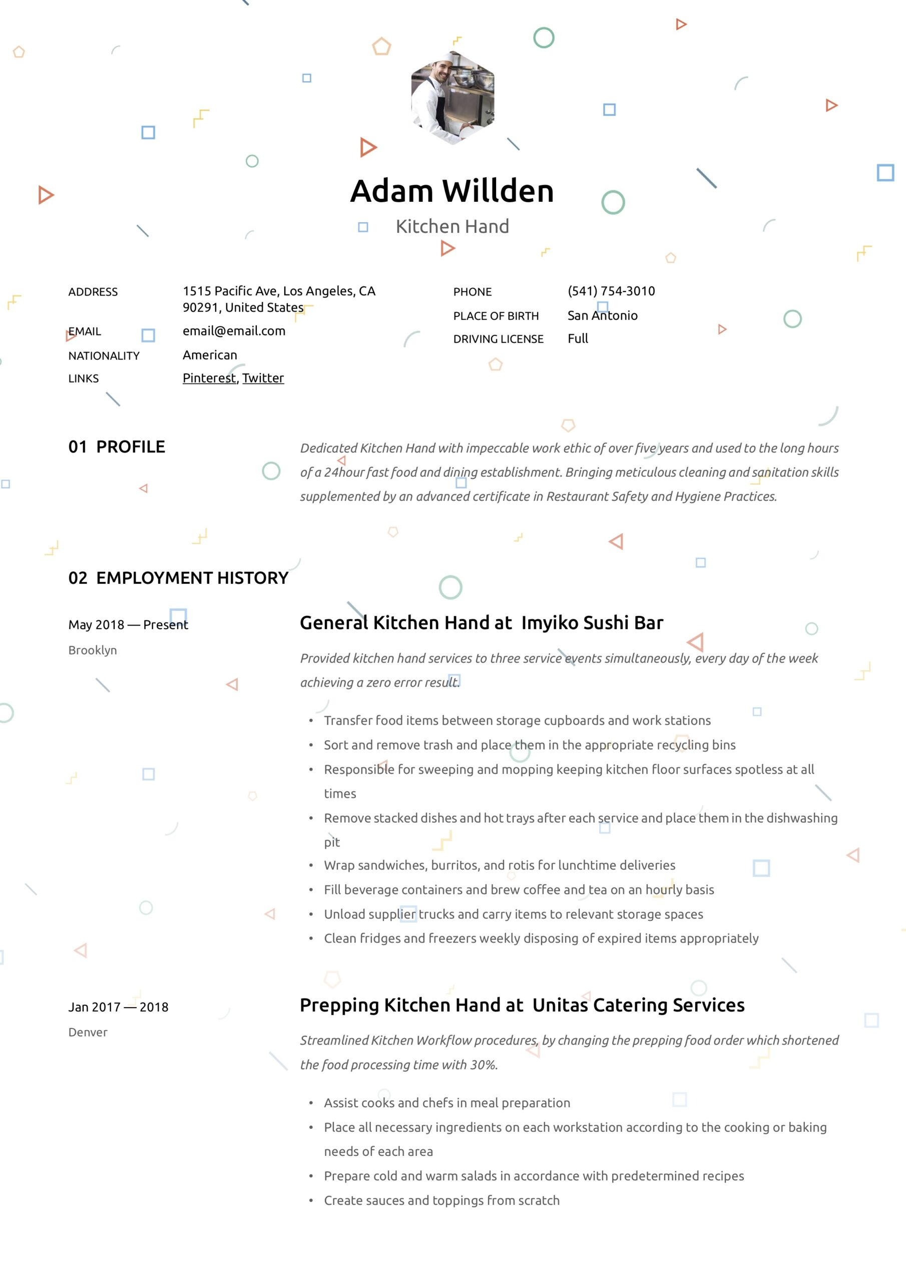 kitchen resume writing guide free templates responsibilities clean examples psg marseille Resume Kitchen Hand Responsibilities Resume