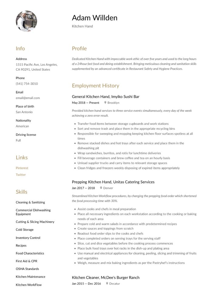 kitchen resume writing guide free templates responsibilities psg marseille well written Resume Kitchen Hand Responsibilities Resume