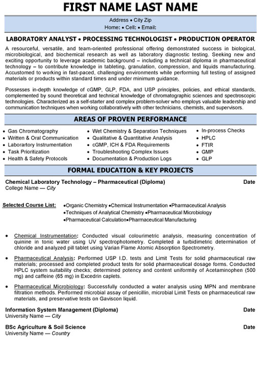 laboratory analyst resume sample template pharmaceutical objective processing Resume Pharmaceutical Resume Objective