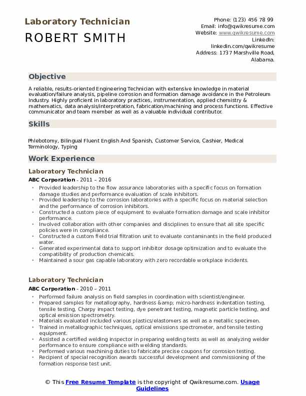 laboratory technician resume samples qwikresume lab examples pdf supply chain boeing Resume Lab Technician Resume Examples